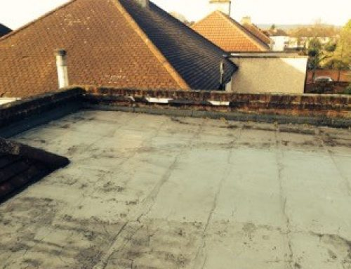 Flat Roof Project Before