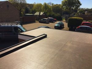 Commercial flat roof complete Kent